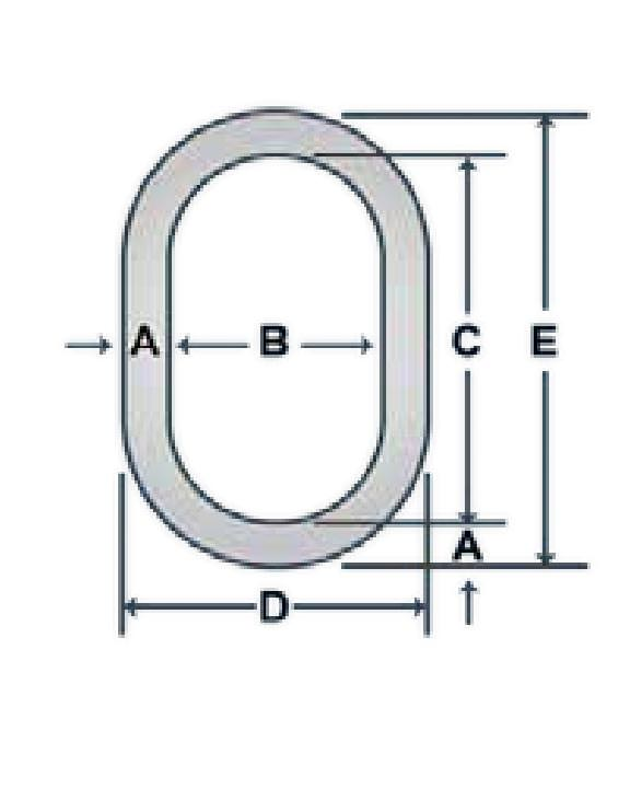 Alloy Oblong Links
